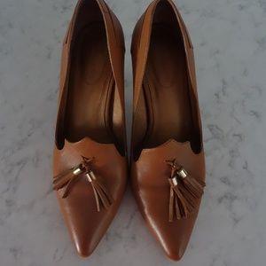 CORSO COMO Cognac Tan Amaya Heels Size 8